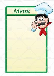stock image menu template with cartoon chefjpg 1061 With menue templates