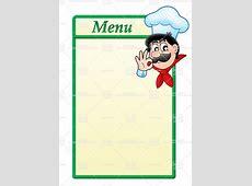 Free Printable Blank Menu Templates vastuuonminun