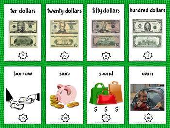 money vocabulary trading cards   elementary tpt