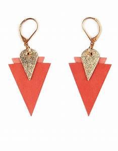 Grosse Boucle D Oreille Fantaisie : boucles d oreilles fantaisie orange bijoux la mode ~ Melissatoandfro.com Idées de Décoration