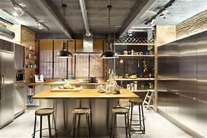 Kitchen Pendant Lighting Loft Style Home In Terrassa Spain