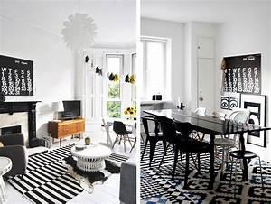 Tapis Graphique Noir Et Blanc : tapis graphiques en noir et blanc salon pinterest en noir graphiques et jaune ~ Teatrodelosmanantiales.com Idées de Décoration