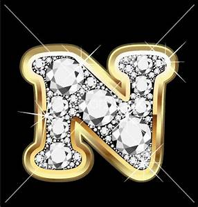letter-n-gold-and-diamond | I'm a Fancy Nancy | Pinterest ...