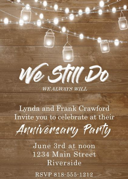 Anniversary Party invitations NEW selections Summer 2020