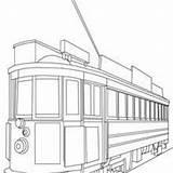 Coloring Tram Pages Tramway San Francisco Printable Transportation Hellokids Designlooter sketch template