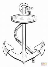 Coloring Anchor Pages Printable Rope Popular sketch template