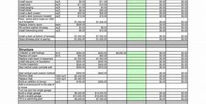 Sample Cost Estimate For Construction New Home Cost Breakdown Spreadsheet 2 Google Spreadshee