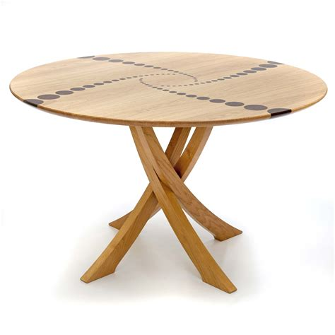 large round table bespoke circular dining table in oak makers 39 eye