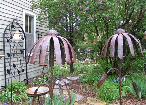 garden iron metal silver creek pottery