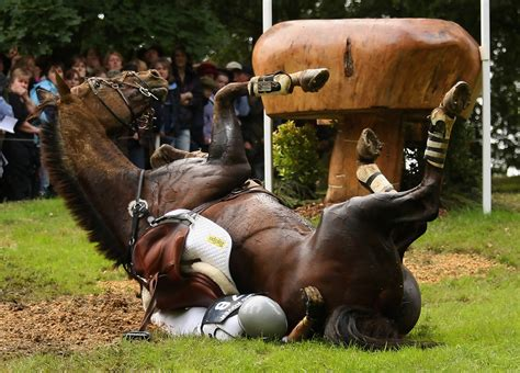 horse trials burghley fall danger things rider realize scariest moments going end well aren plans much
