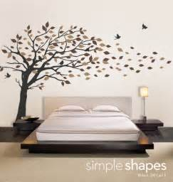 vinyl wall decal sticker blowing leaves tree by