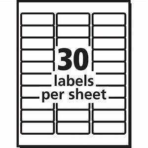 avery white easy peel address labels yuletide office With 30 up labels 1x2 5 8 on us letter