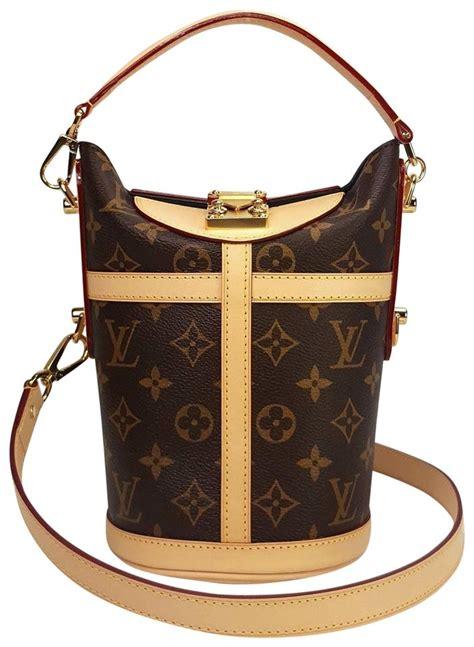 louis vuitton duffle monogram boite chapeau trunk  brown canvas leather shoulder bag