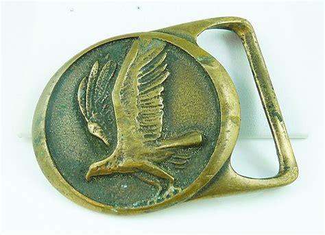 rare vintage tech ether guild osprey brass belt buckle