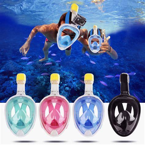 full face snorkeling mask set diving underwater swimming