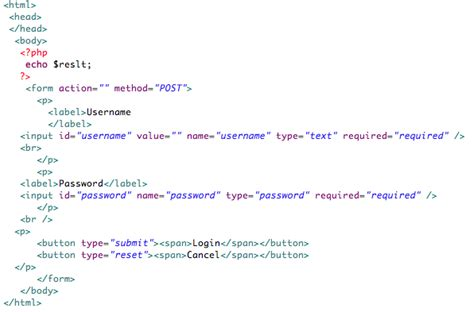 how to create a simple login form in php using mvc patterns