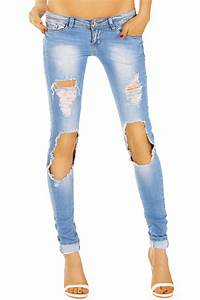 Be Styled Super Destroyed Damen Relaxed Hftjeans In