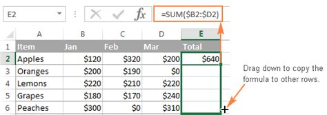 excel 2010 sum across worksheets how to