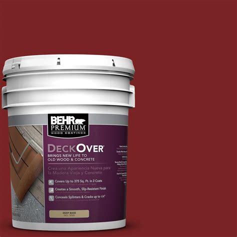 behr rubberized deck coating behr premium deckover 5 gal sc 112 barn wood and