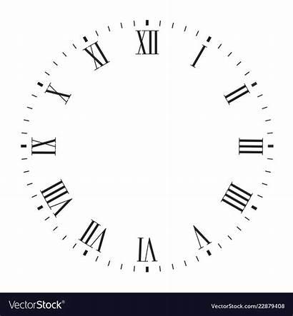 Roman Numerals Clock Face Blank
