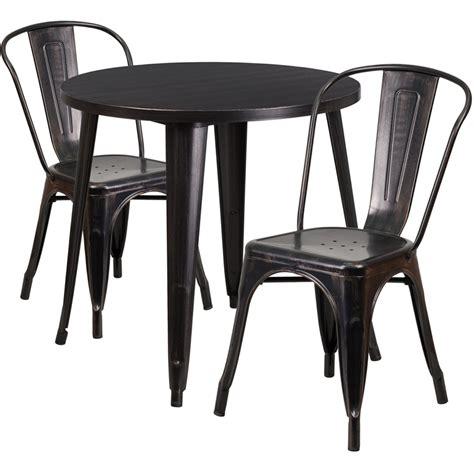 30 black antique gold metal indoor outdoor table