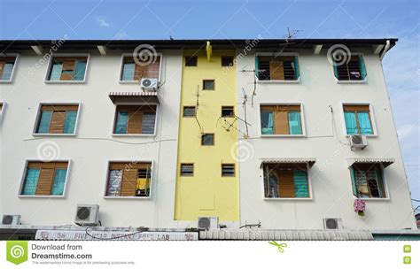 residental construction facade residental building penang malaysia stock images