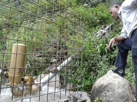 pompa hydram dorong air hingga ketinggian  meter