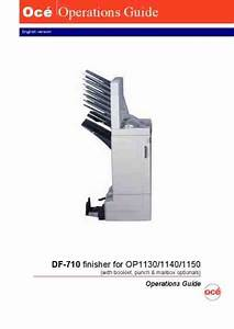 Oce Op1130 Operation Guide Command 3000 Sheet Finisher