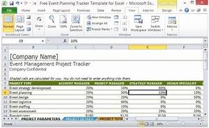 Productivity Tracker Excel Template Free Event Planning Tracker Template For Excel