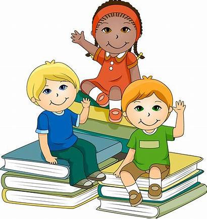 Clipart Children Reading Books Library Clip Learning