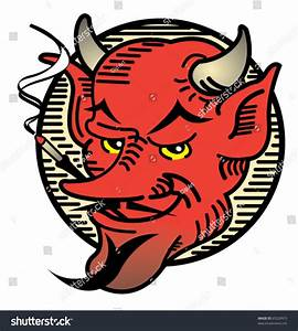 Tattoo Design Vintage Style Evil Devil Stock Vector ...