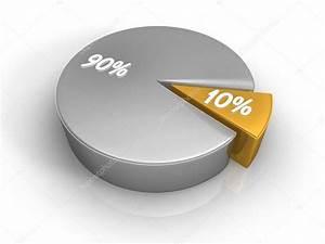Pie Chart 10 90 Percent  U2014 Stock Photo  U00a9 Threeart  4659806