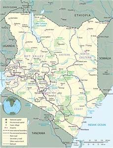 Map Of Kenya In Africa | Africa Map