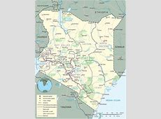 Map of Kenya Nairobi Travel Africa
