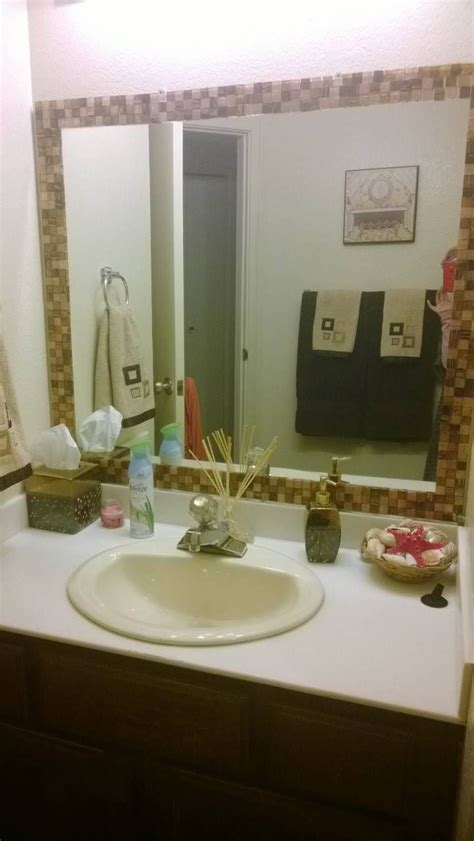 Bathroom Mirror Makeover by Diy Bathroom Mirror Makeover House Hold Ideas And Tips