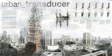 The Urban Transducer Skyscraper Produces Energy from Noise