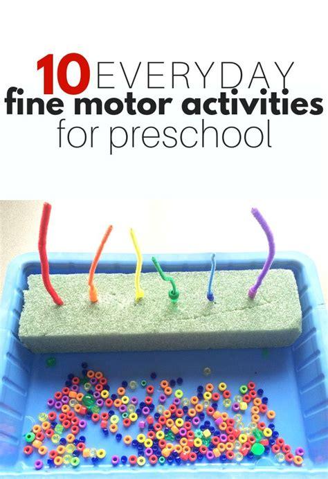 everyday fine motor activities  preschool