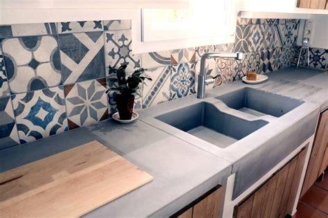 plan de travail cuisine beton la cuisine béton plan de travail suprabéton balian