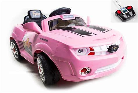 pink kid car pink ride on camaro remote control car for kids w mp3 port