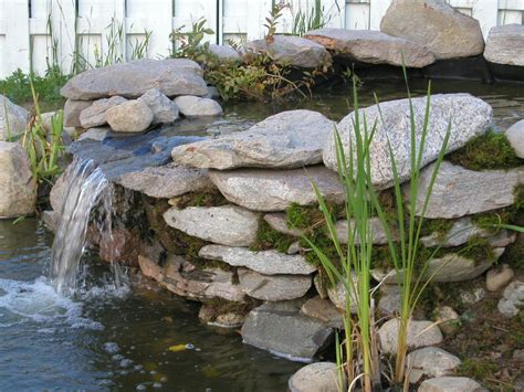 how to build a waterfall wall hometalk how to build pond waterfall and wall waterfalls with flagstones
