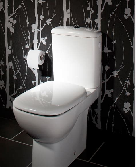 papier peint pour toilettes decoration toilettes cuvette wc blanc papier peint noir blanc d 233 coration maison et id 233 es d 233 co