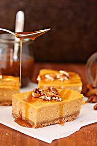 Pumpkin Cheesecake Bars with Caramel