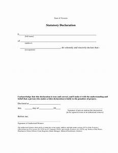 Statutory Declaration Sample Form Free Download
