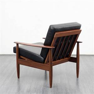 Fauteuil Vintage Scandinave : fauteuil vintage scandinave en teck et cuir 1960 ~ Dode.kayakingforconservation.com Idées de Décoration