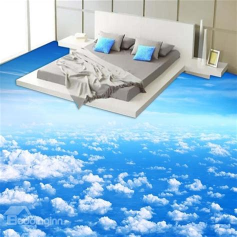 floor ls on sale free shipping blue sky and white cloud pattern nonslip and waterproof 3d