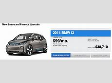 BMW i3 Lease Deal $99 Per Month