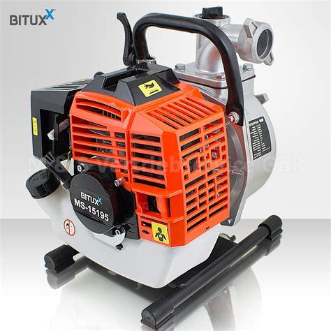 Bituxx® Benzin Wasserpumpe 43ccm Motorpumpe