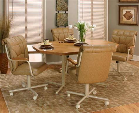 beautiful dining room chairs with rollers ideas