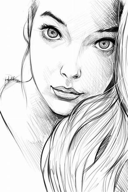 Side Profile Drawing Face Woman Sketch Drawings
