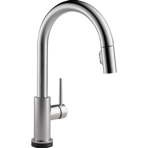 Delta Trinsic Kitchen Faucet Specs delta trinsic single handle two function pull out spray